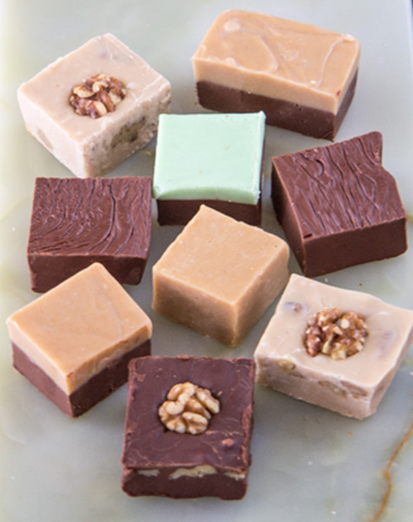 cubes of fudge
